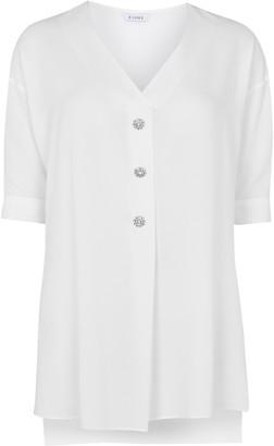 Evans Ivory Sparkle Button Tunic