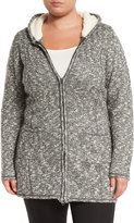 Soybu Laurie Hooded Knit Coat, Storm, Plus Size