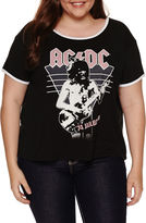 Fifth Sun ACDC Graphic T-Shirt- Juniors Plus