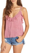 Billabong Women's Ruffle Polka Dot Tank