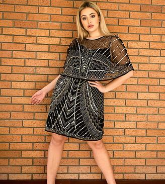ASOS DESIGN Curve embellished cape mini dress