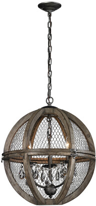 Artistic Home & Lighting Small Renaissance Wood & Wire Chandelier