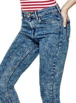 GUESS 1981 High-Rise Skinny Jeans in Stone Thorns Wash