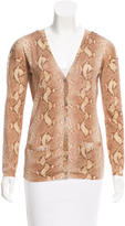 Christian Dior Wool & Silk-Blend Cardigan