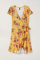 H&M Short Wrap Dress - Yellow