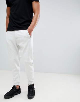 Bershka Join Life Organic Cotton Cuffed Jogger In Light Grey