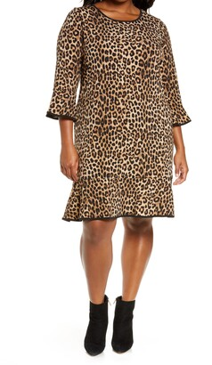 MICHAEL Michael Kors Cheetah Print Flounce Dress