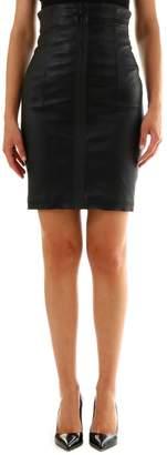 Off-White Zipped Pencil Skirt