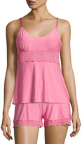 Commando Butter Lace-Panel Camisole, Medium Pink