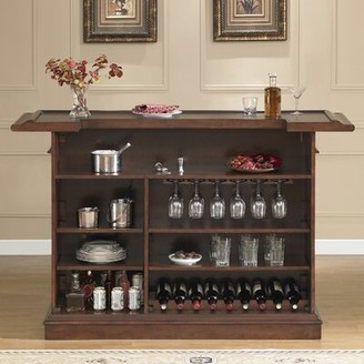 American Heritage Valore Bar with Wine Storage Color: Brown