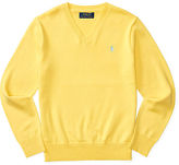 Ralph Lauren 8-20 Cotton V-Neck Sweater
