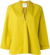 Forte Forte V-neck pleat blouse