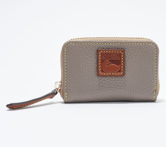 Dooney & Bourke Pebble Leather Zip Around Credit Card Case