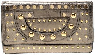 Diane von Furstenberg Metallic Studded Leather Hayworth Clutch
