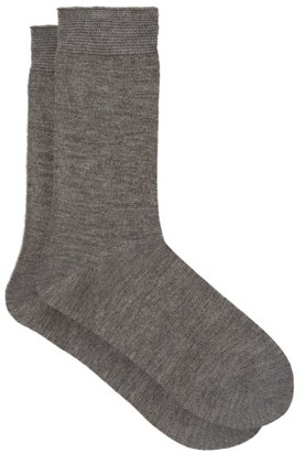 Falke No.1 Finest Cashmere-blend Socks - Womens - Light Grey