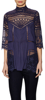 Plenty by Tracy Reese Centered Cross Cotton Lace Tunic