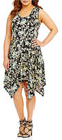 Jessica Simpson Plus Karenine Handkerchief Hem Dress