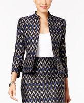 Kasper Petite Tweed Open-Front Jacket