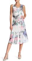 Komarov Sleeveless Lace Trim Dress