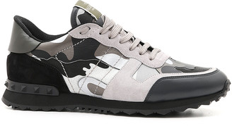 Valentino Men's Rockrunner Camo Leather Sneakers