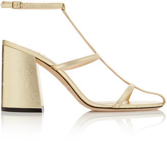 Jimmy Choo Linley Metallic Leather Sandals