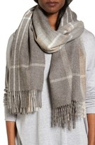 Eileen Fisher Women's Plaid Alpaca Scarf