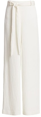 Halston Crinkle Crepe Wide-Leg Pants