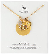 Sequin Three-Pendant Talisman Necklace
