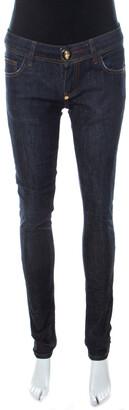 Philipp Plein Blue Dark Wash Denim Strawberry Cheesecake Slim Fit Jeans S