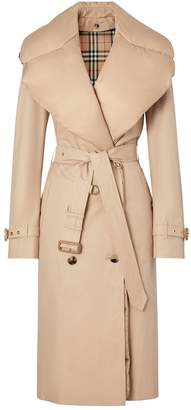 Burberry Down-Collar Kensington Coat