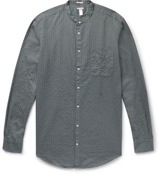 Massimo Alba Grandad-Collar Cotton-Seersucker Shirt