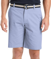 Izod Belted Flat-Front Cotton Shorts