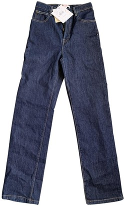 MANGO Blue Cotton - elasthane Jeans for Women