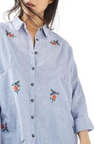 Topshop Women's Embroidered Shirt