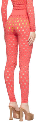 MAISIE WILEN Red Perforated Leggings