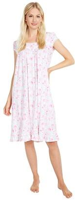Eileen West Modal Cap Sleeve Waltz Nightgown (Pink Multi) Women's Pajama