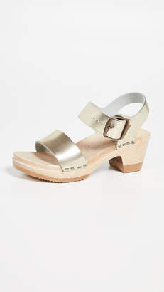 NO.6 STORE Two Strap Mid Heel Clogs