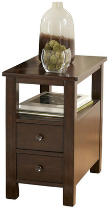 Ashley Furniture Industries Marion Contemporary Dark Brown Chair Side End Table