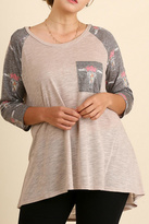 Umgee USA Beige Printed Top