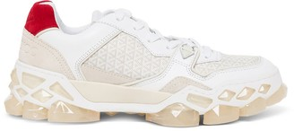 Jimmy Choo Diamond Sneakers In Leather And Fabric