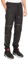Givenchy Moto Jogger Pants with Zippers, Black