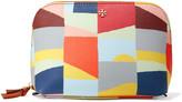 Tory Burch Kerrington printed textured-leather cosmetics case