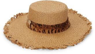 Ava & Aiden Animal-Print Band Straw Hat