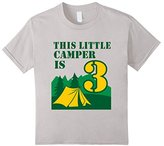 Kids 3rd Birthday Boys Camping T-Shirt Summer 3 Year Old