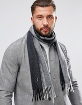 Fred Perry Tipped Cashmere Scarf Black