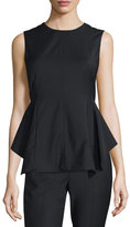 Theory Kalsing Cl. Continuous Peplum Top, Black