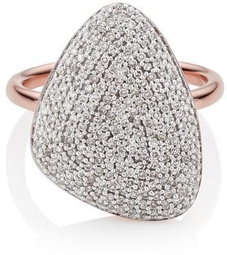 Monica Vinader Nura Teardrop Diamond ring