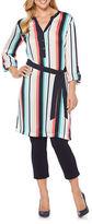 Rafaella Long-Sleeve Striped Tunic