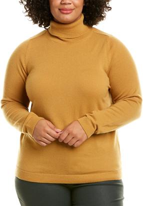 Lafayette 148 New York Plus Turtleneck Cashmere Sweater