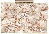 Phase Eight Flora Rose Gold Box Clutch